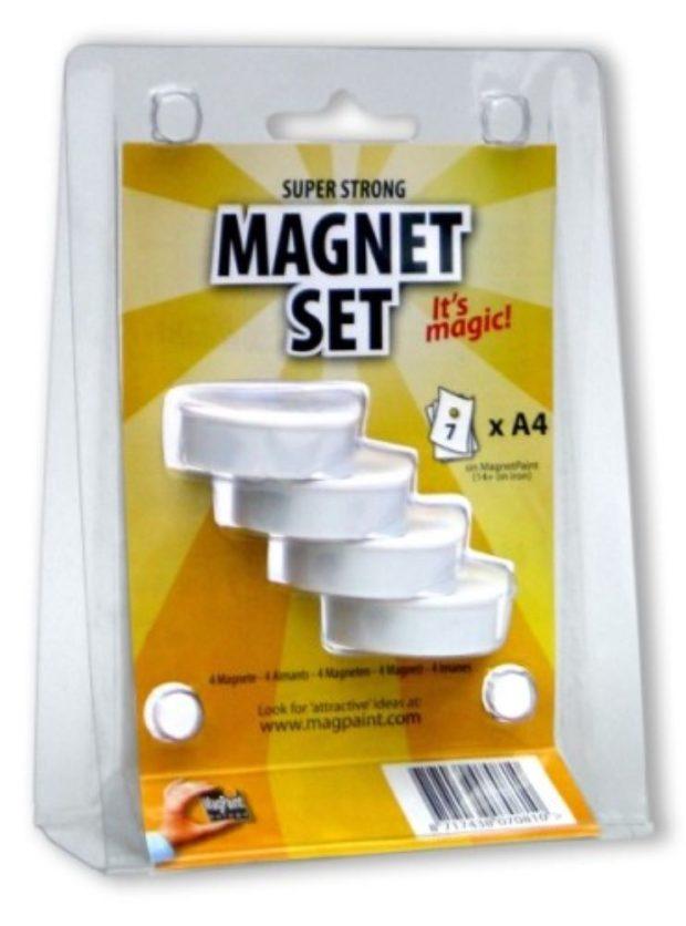 Weißer Magnet 37 mm