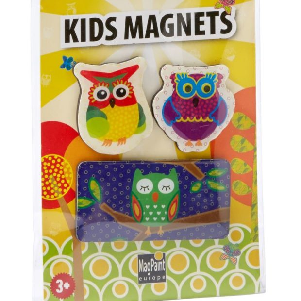 Vogelmagnete unzerbrechliche Magnete aus PVC Magnettier Sammelmagnet Eule Dekomagnet Magneteule Airbrushbemalung Eulenmagnet Tiermagnet